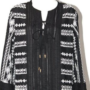 Rachel Zoe Black Cotton Tunic New With Tags Size 8